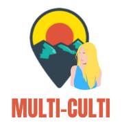 Multiculti travel blogger logo