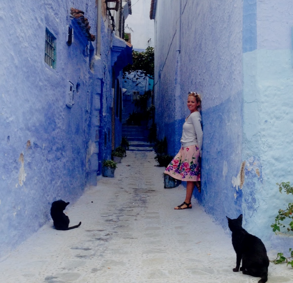 Travel Blogger Multiculti in Chefchaouen Morocco