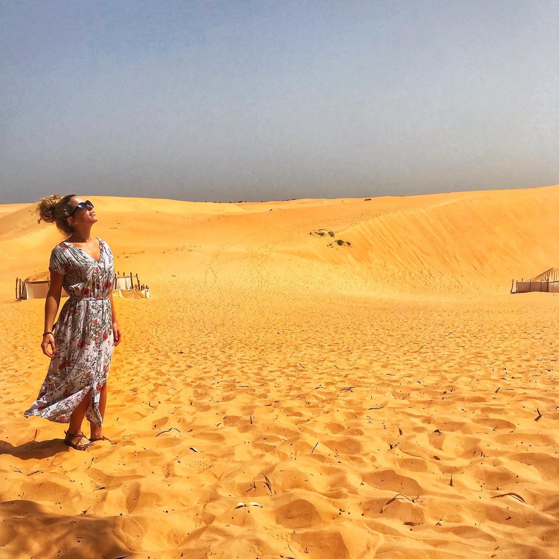 Travel blogger Multiculti in the desert in Senegal